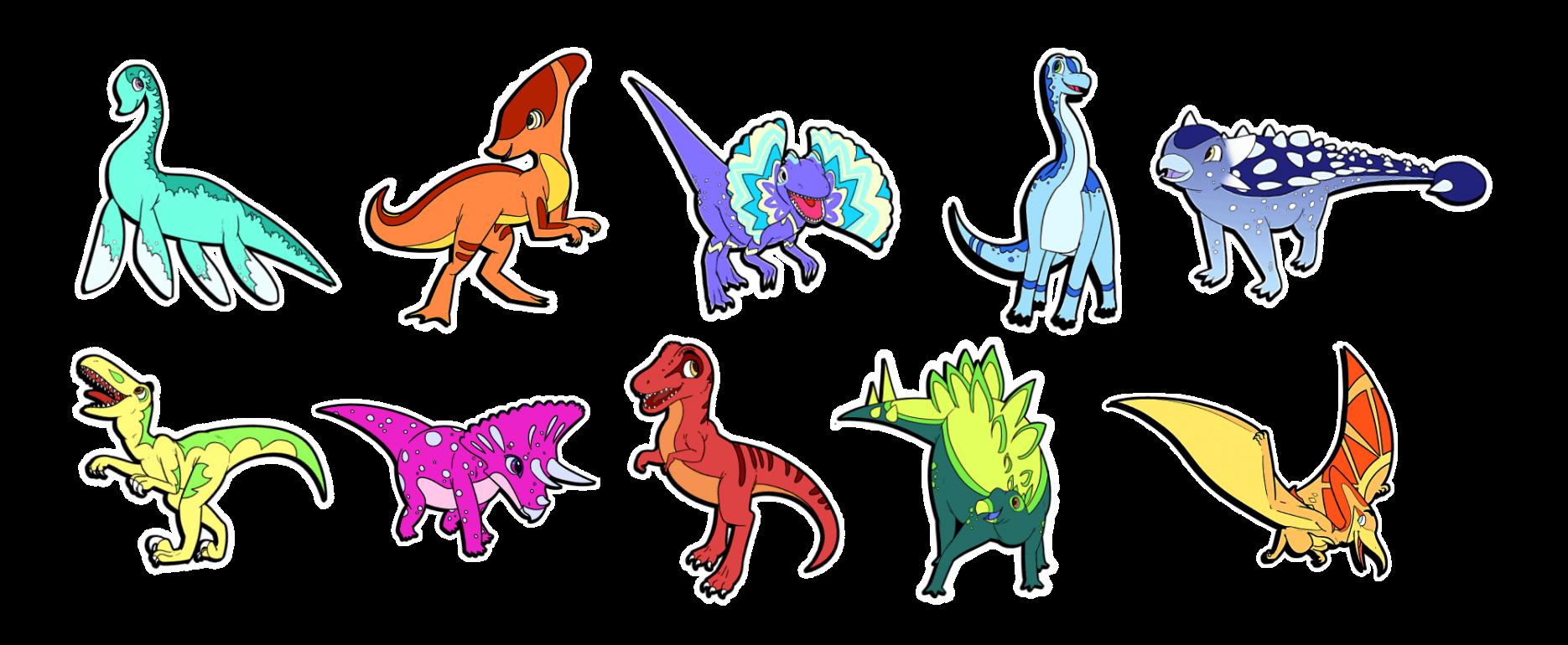 tatouage-stickers-TRex-velociraptor-pterodactyl