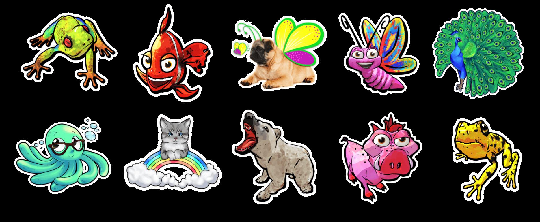 Holotoyz stickers holo-heroes