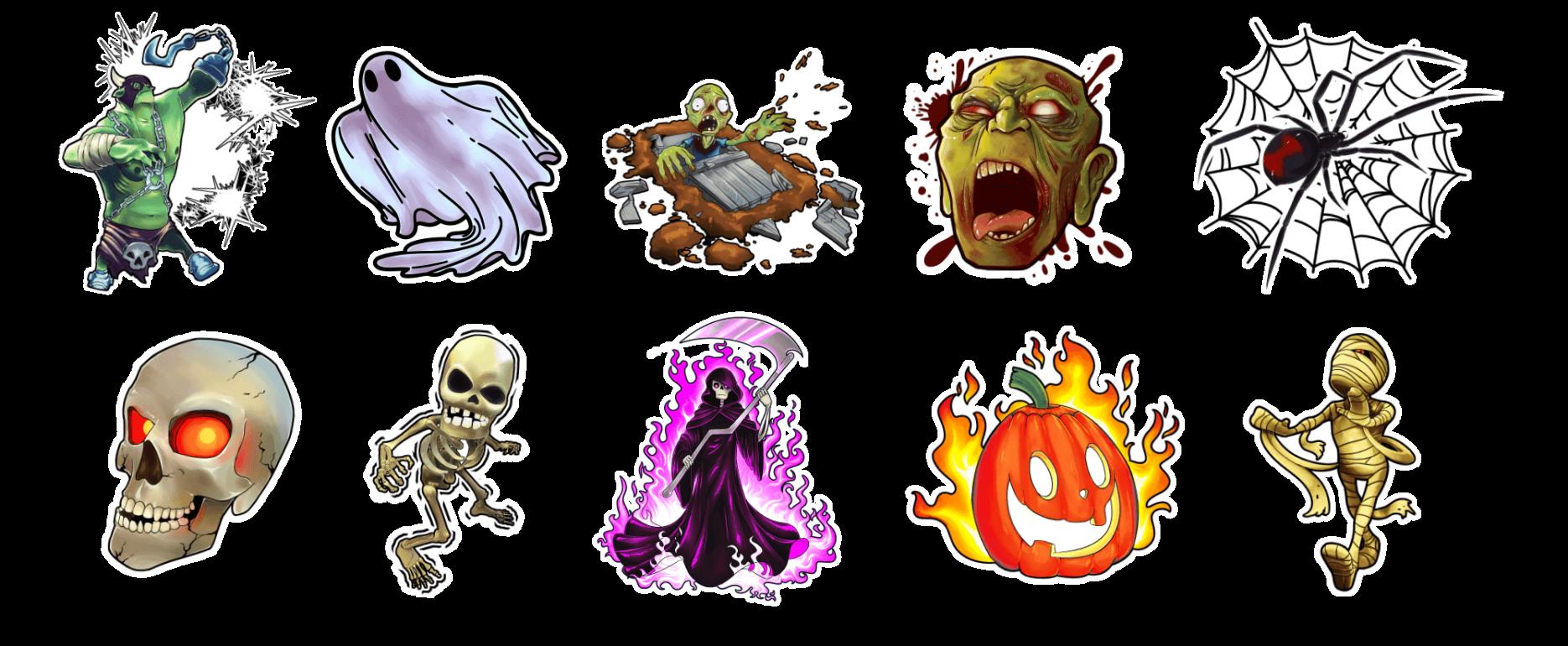Holotoyz stickers monster mash