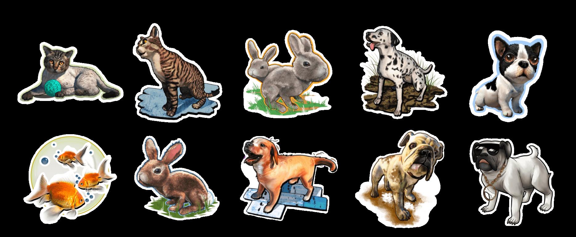 Holotoyz stickers pet party